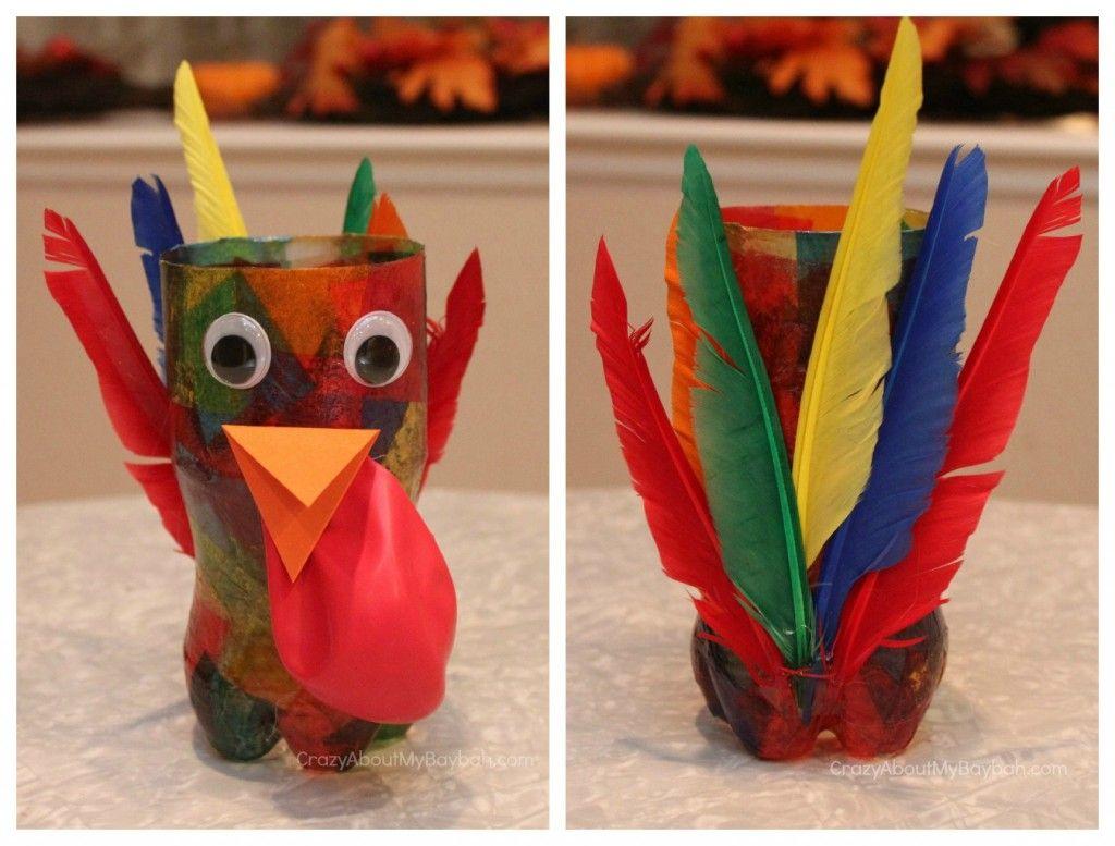 Turkey centerpiece thanksgiving craft for kids