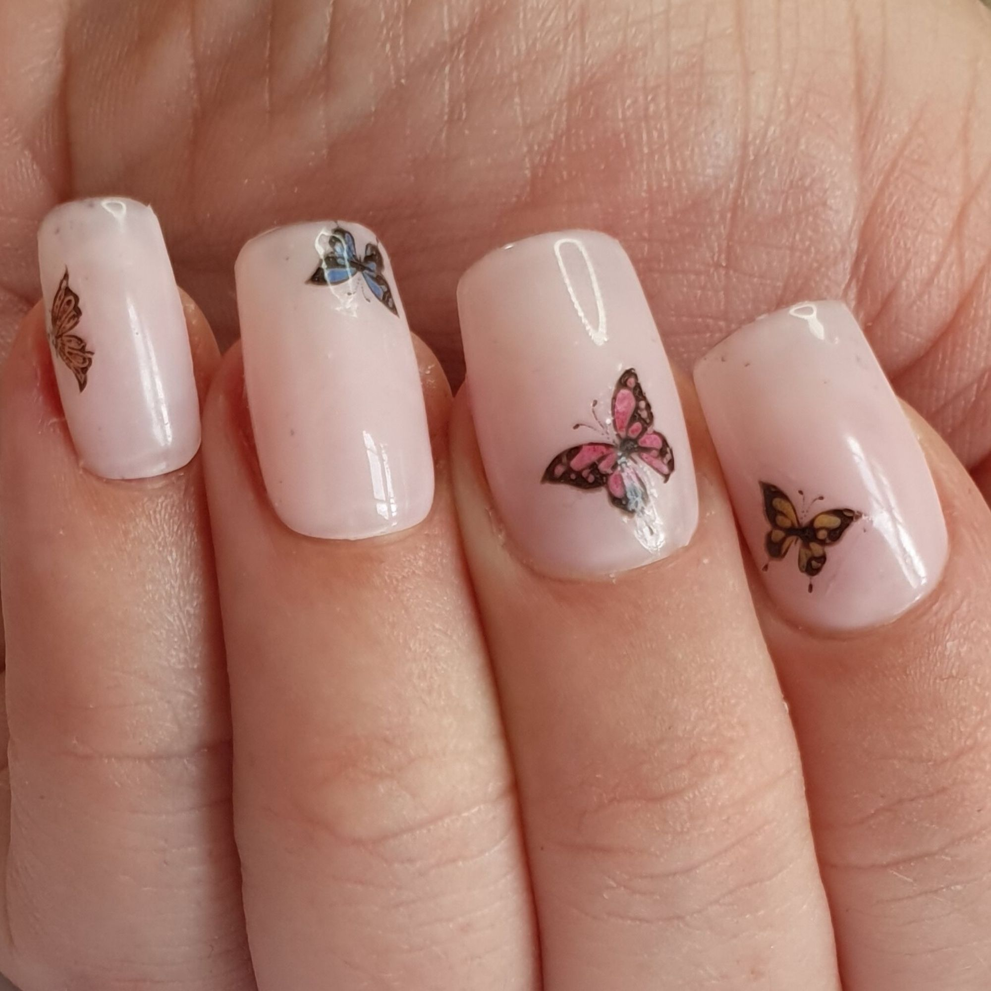 Gk Nails Butterfly Nail Waterslide Decals In 2020 Butterfly Nail Butterfly Nail Art Nail Art Diy