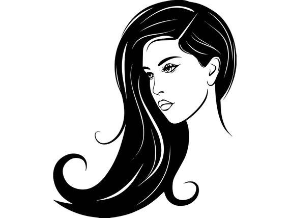 Hair Style Woman Face Clip Art Pop Art Girl