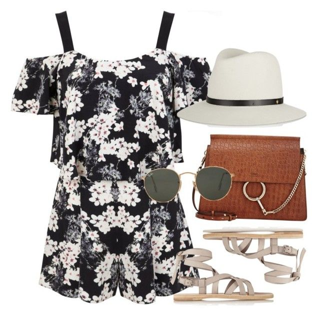 """""""Untitled #1191"""" by erinforde ❤ liked on Polyvore featuring Miss Selfridge, rag & bone, Miu Miu, Chloé and Ray-Ban"""