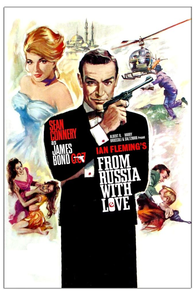 James Bond From Russia With Love 1963 James Bond Movie Posters