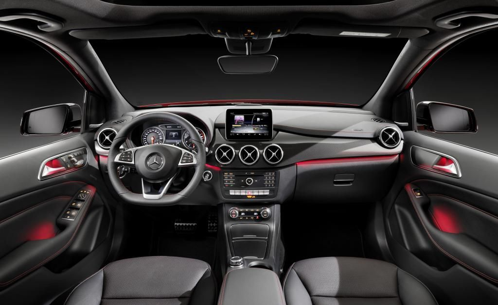 Mercedes-Benz B-Class model year 2014, B 250 4MATIC, jupiter red ...