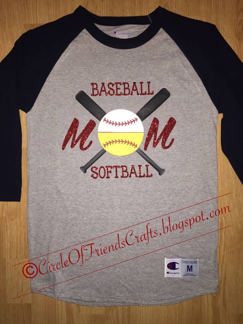 Photo on circle of friends crafts baseball softball mom Designer baseball shirts