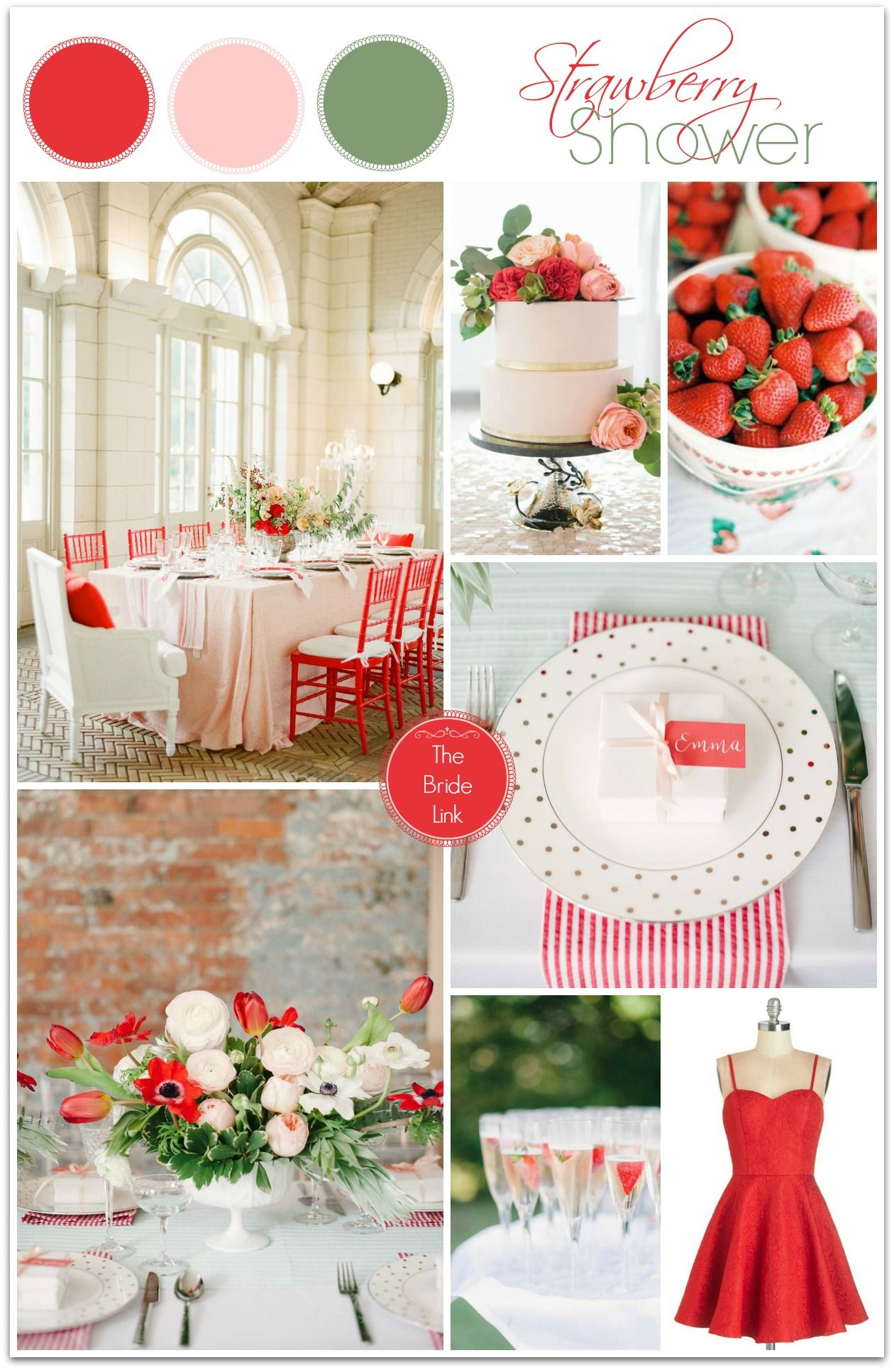 Strawberry Wedding Shower Inspiration