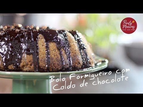 Bolo Formigueiro Com Calda De Chocolate Viver Sem Trigo Por