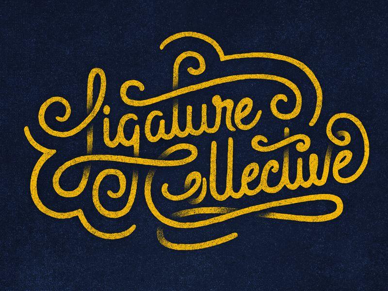 LIGATURE COLLECTIVE SCRIPT by Zane Kaiser (Fayetteville, Arkansas)