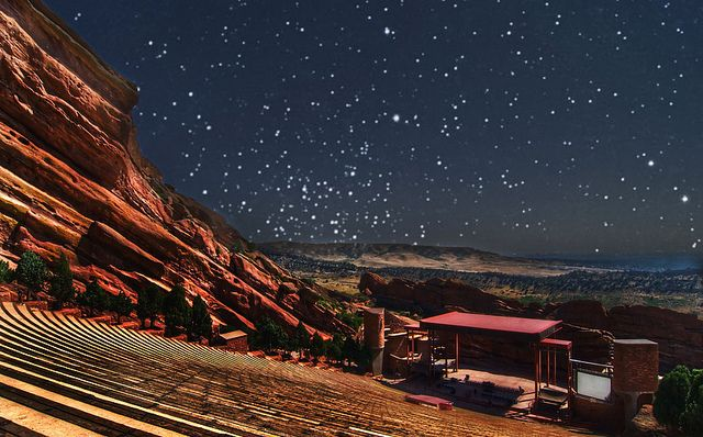 Red Rocks At Night In 2019 Places I Want To Visit Red Rock