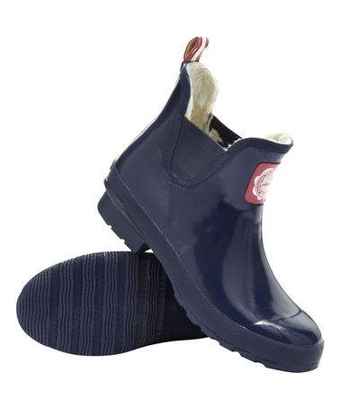 Another great find on #zulily! French Navy Wellibob Rain Boot - Women #zulilyfinds