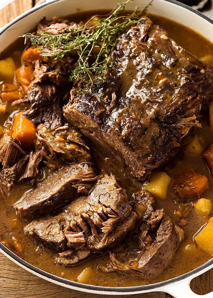 Beef Pot Roast Slow Cooker Recipe