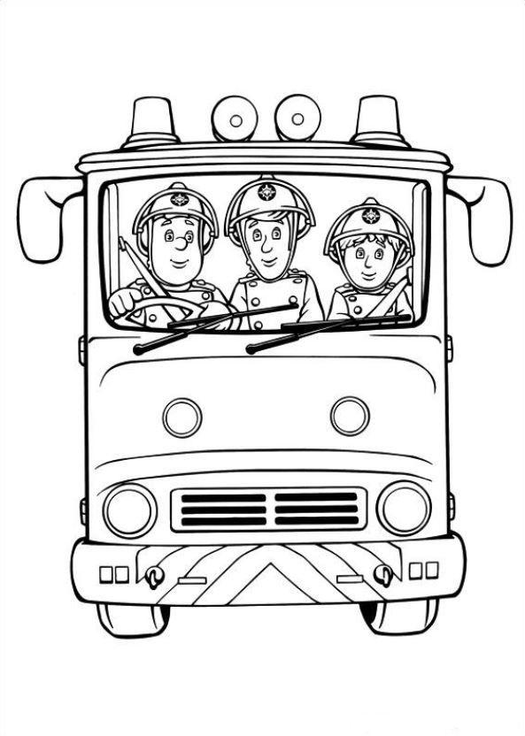 38 Ausmalbilder von Feuerwehrmann Sam auf Kids-n-Fun.de. Auf Kids-n ...