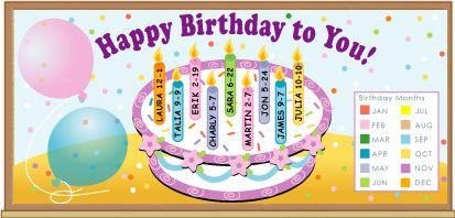 birthday boards on Pinterest  Class Birthdays, Sunday School Themes ...