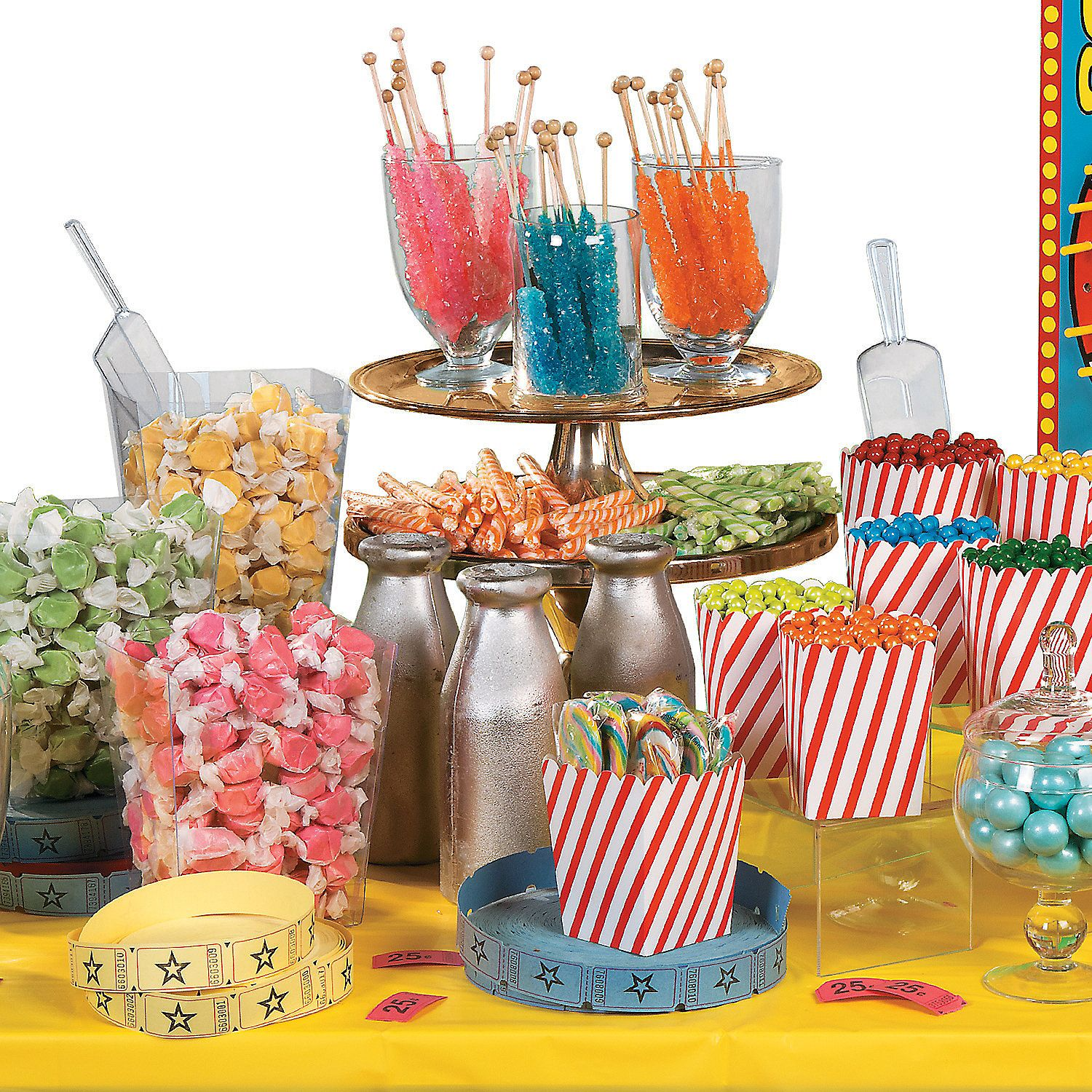 Carnival Candy Buffet Idea Step Right Up To A Show Stopping
