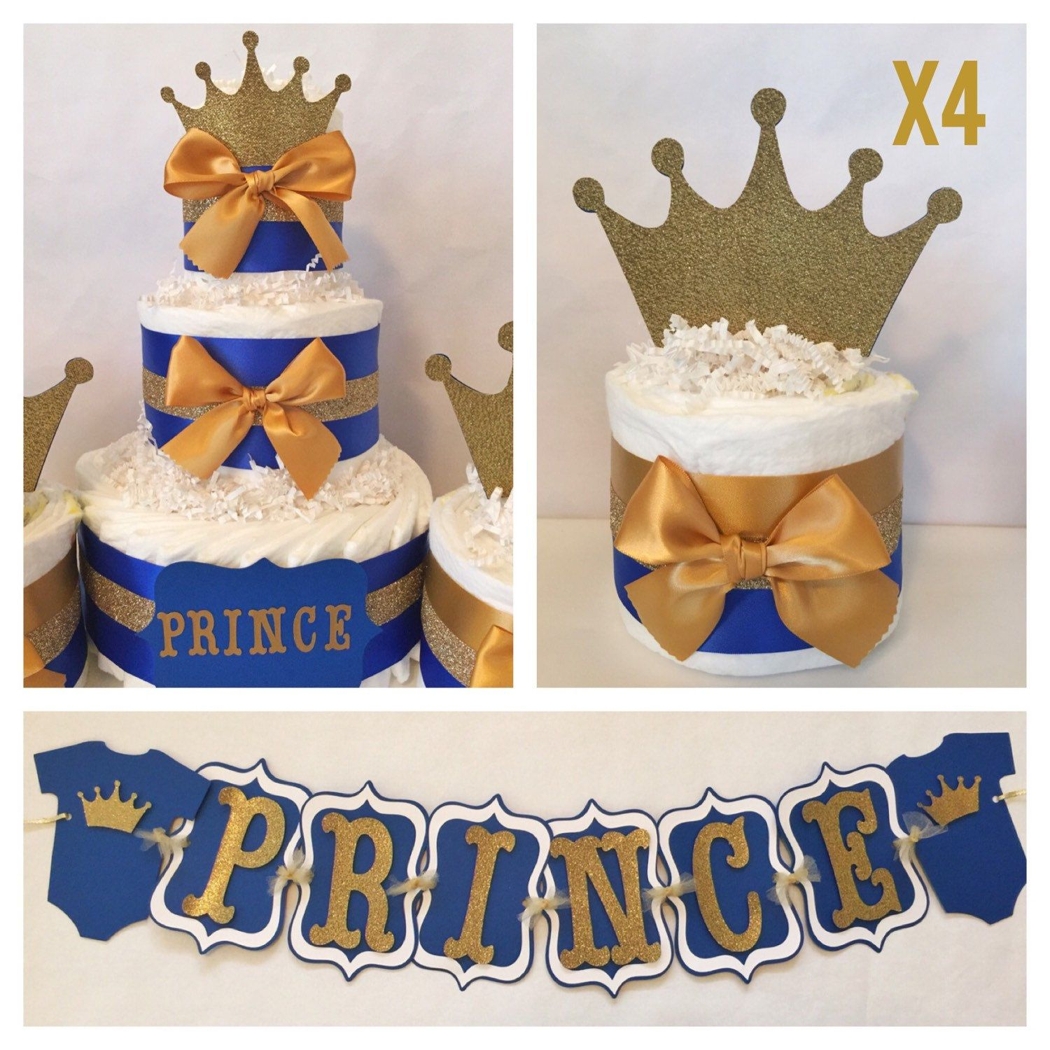 Superior Prince Baby Shower Party Package In Royal Blue And Gold, Prince Theme Baby  Shower Decorations, Centerpiece