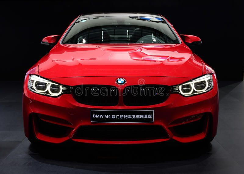 A Red Bmw M4 Car In Black Background Ad Bmw Red