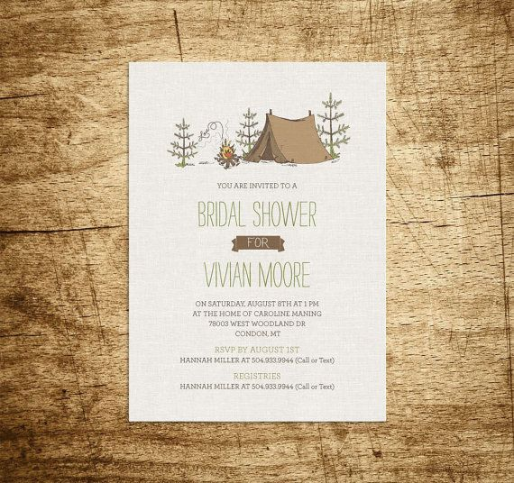 Printable Bridal Shower Invitation Camping By Willowandsass Young