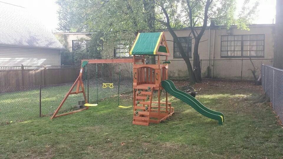 Backyard Discovery Dillon playset from @Walmart installed ...
