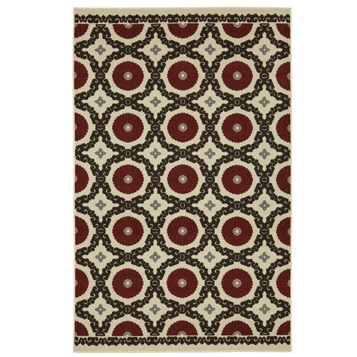 Penelope Red Rectangular: 7 Ft. 6-Inch x 10 Ft. Rug - (In No Image Available)