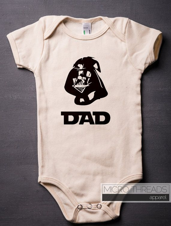 fd3602464e72 Darth Vader ONESIES®- Organic Cotton - Baby Shower Gifts - Funny ...