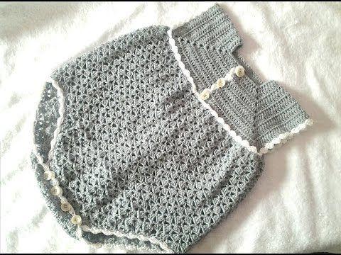 Pelele Enterizo O Jardinero A Crochet Parte 1 Ropa Para Bebé De Ganchillo Ganchillo Para Bebés Ganchillo Bebe
