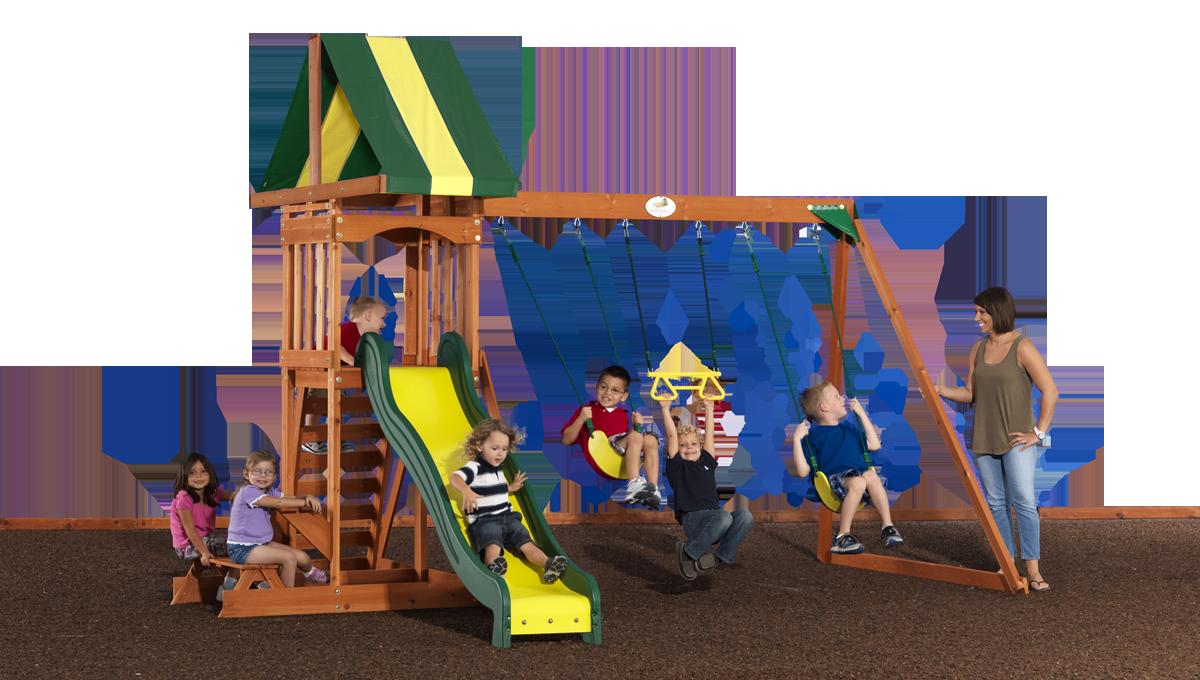 Prestige Wooden Swing Set For Backyard Wooden Swings Cedar