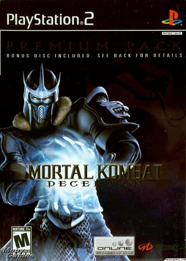 Mortal Kombat Deception Premium Pack Playstation 2 Front Cover