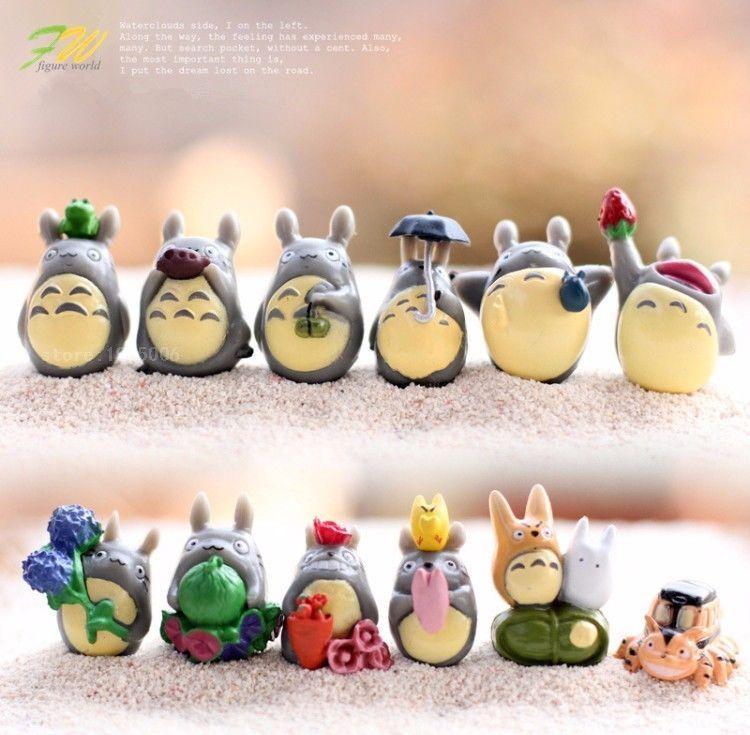 12Pc Set Tiny My Neighbor Totoro Resin Toy Figurine Small Statue Charm Fan Gift    eBay
