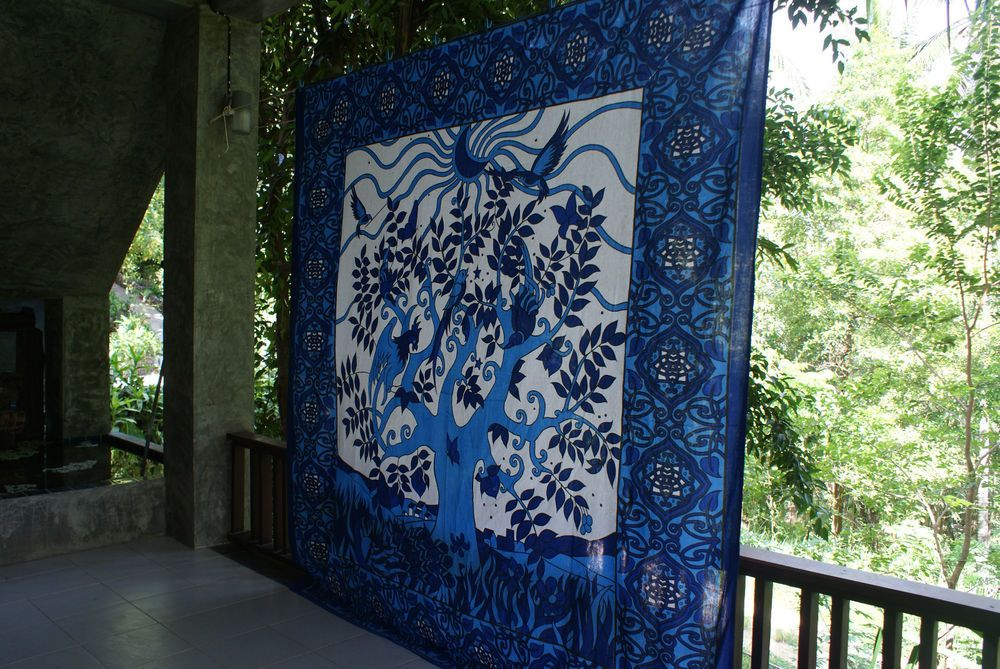 Mandala Wall Hanging Tapestry Double Bed Sheet Sofa Throw 230X210CM Blue Bird