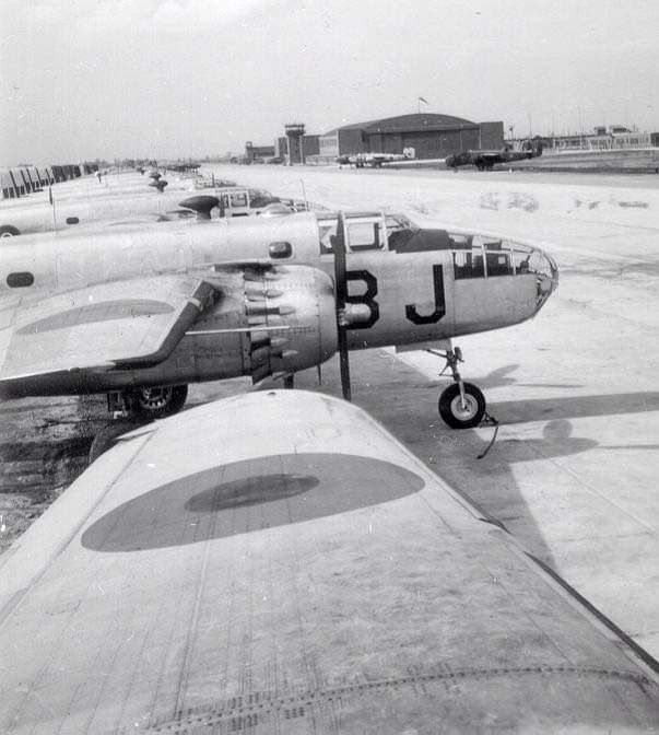 B-25s At Boundary Bay Airport 1940s.