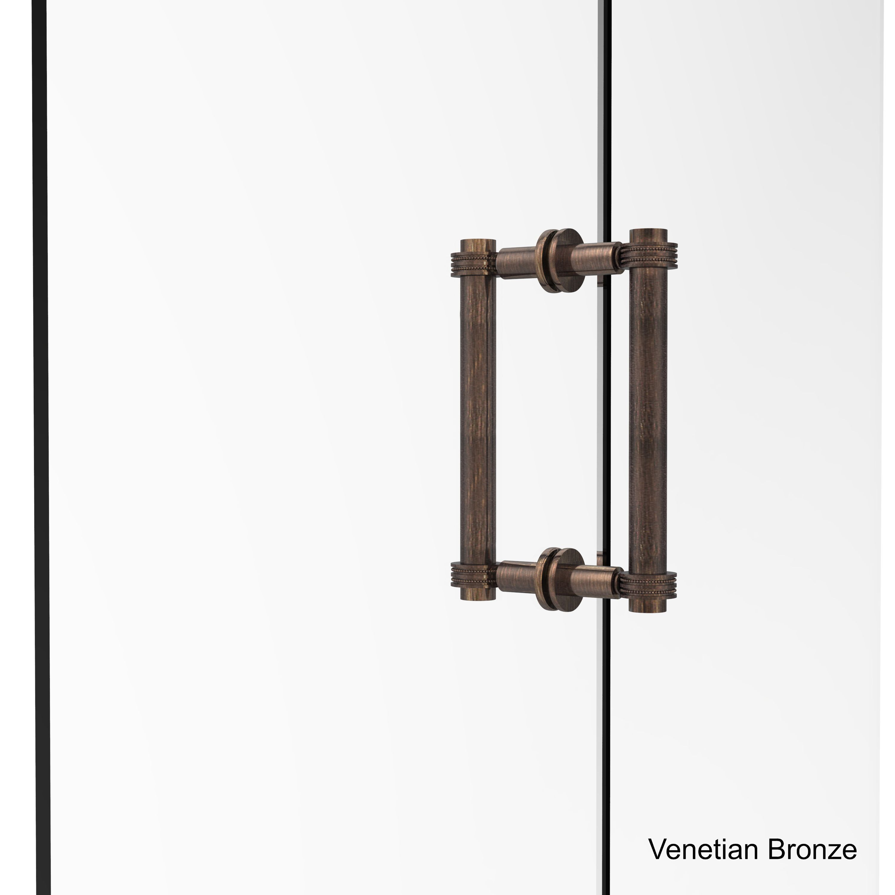 Allied 8-inch Contemporary Back to Back Shower Door Pull With Dotted Accent