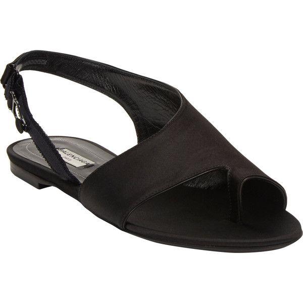 Balenciaga Boudoir Slingback Flat Sandals