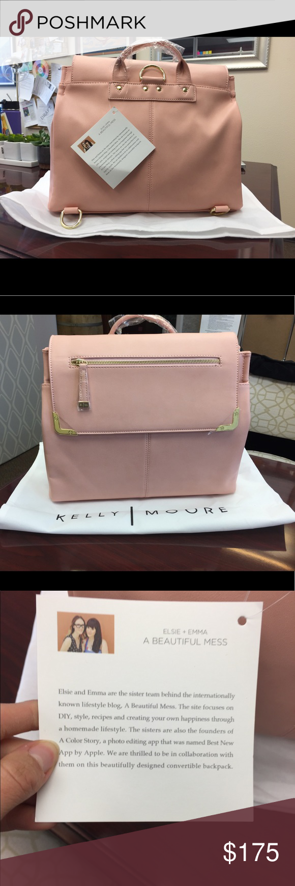 17da1ae25234 Kelly Moore New Beautiful Mess Bag Backpack Brand new with tags ...