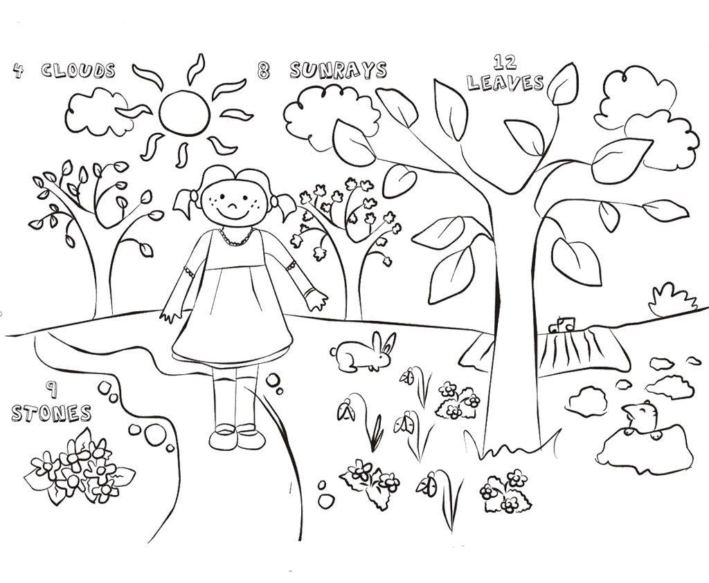 Spring Coloring Sheets Printable