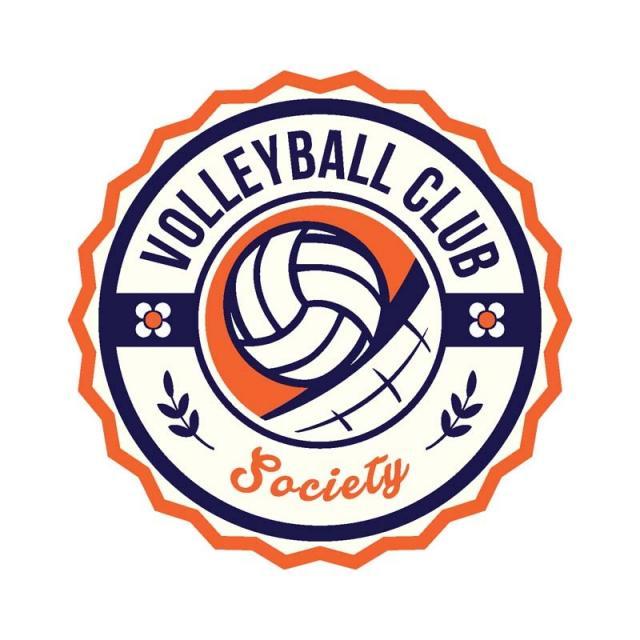 Modern Volleyball Sports Club Badge Logo Vector And Png Badge Logo Sports Logo Design Sports Badge