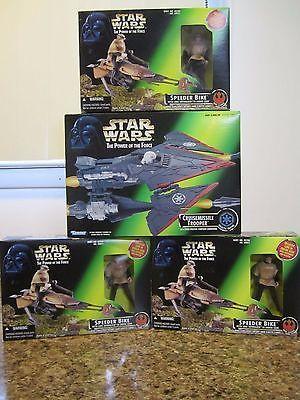 Star Wars Lot of 4 Speeder Bikes 3 w/Luke in Endor Gear & Cruisemissile Trooper https://t.co/oOO6iAXPVr https://t.co/gjLYir2vde