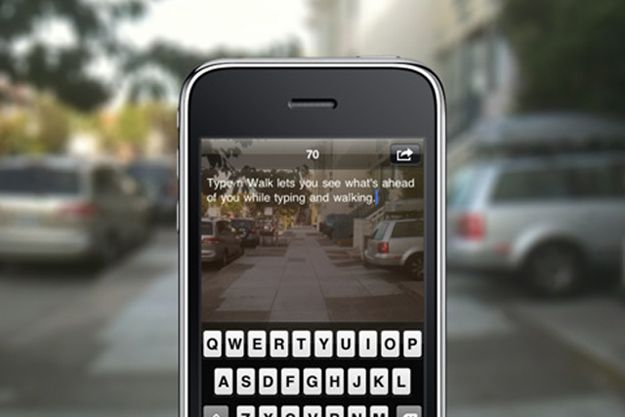 No More Running Into Walls Or Tripping On The Sidewalk As You Walk And Text Walk N Text App Allows You To See Wh Iphone Apps Messaging App Personal Safety App