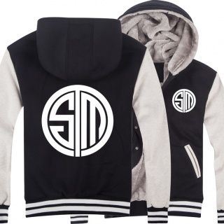 lol team tsm hoodie league of legends thick fleece hooded sweatshirt