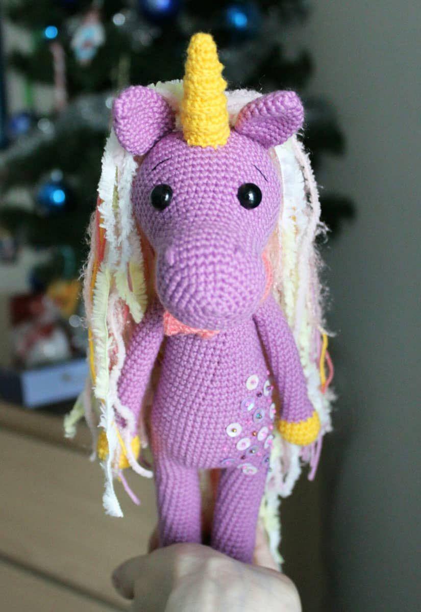 Patrón de amigurumi unicornio tímido | crochet | Pinterest ...
