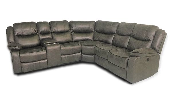 Terrific Gray Dual Power Reclining Storage Sectional In 2019 Family Dailytribune Chair Design For Home Dailytribuneorg
