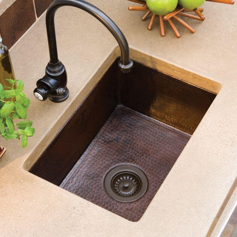Cocina 21 5 X 16 Copper Kitchen Sink Undermount Kitchen Sinks