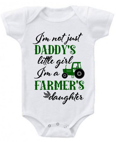 93539e3f5b39 Daddy s Little Farmer Onesie