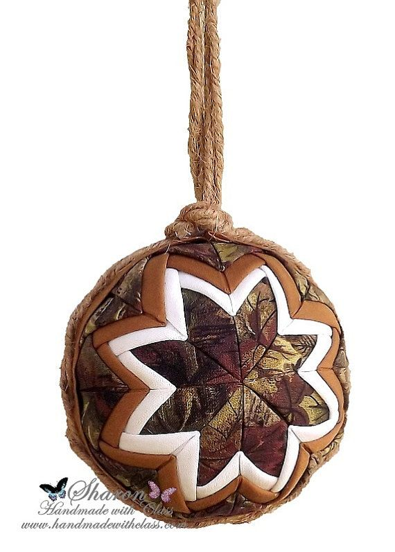 Quilted Ornament Ball Camo Christmas by HandmadewithClass ...