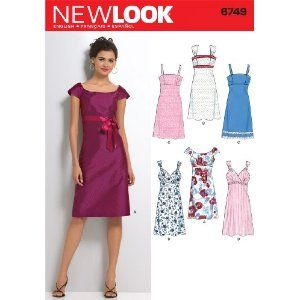 New Look Sewing Pattern - Misses Dresses Sizes: A (6,8,10,12,14,16): Amazon.co.uk: Kitchen & Home