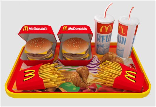 Mod The Sims Mcdonalds Deco Food Set 8 New Meshes Ice Cream
