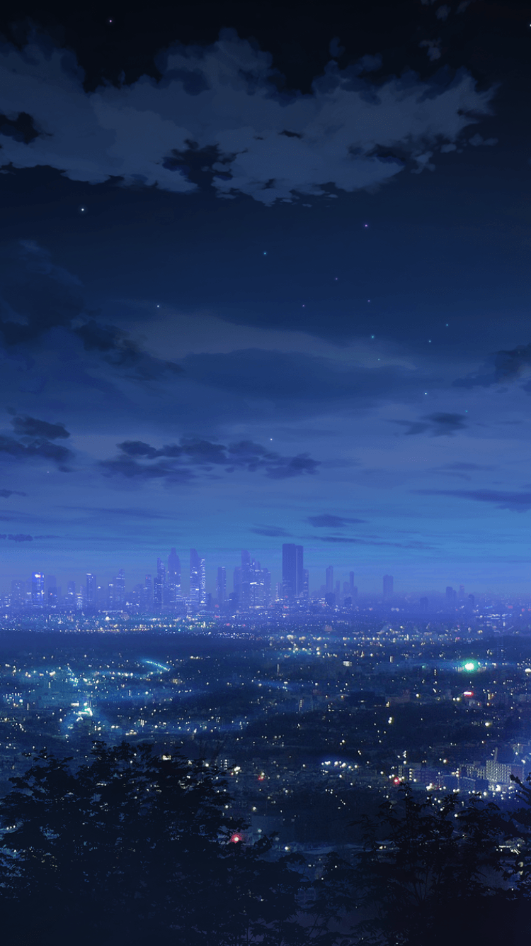 750x1334 Anime Scenery Iphone Wallpaper.Anime City