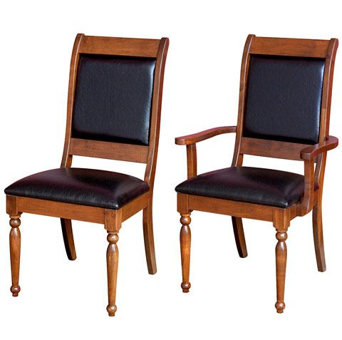 Solid Wood Amish Made Driscoll Captain U0026 Side Chairs