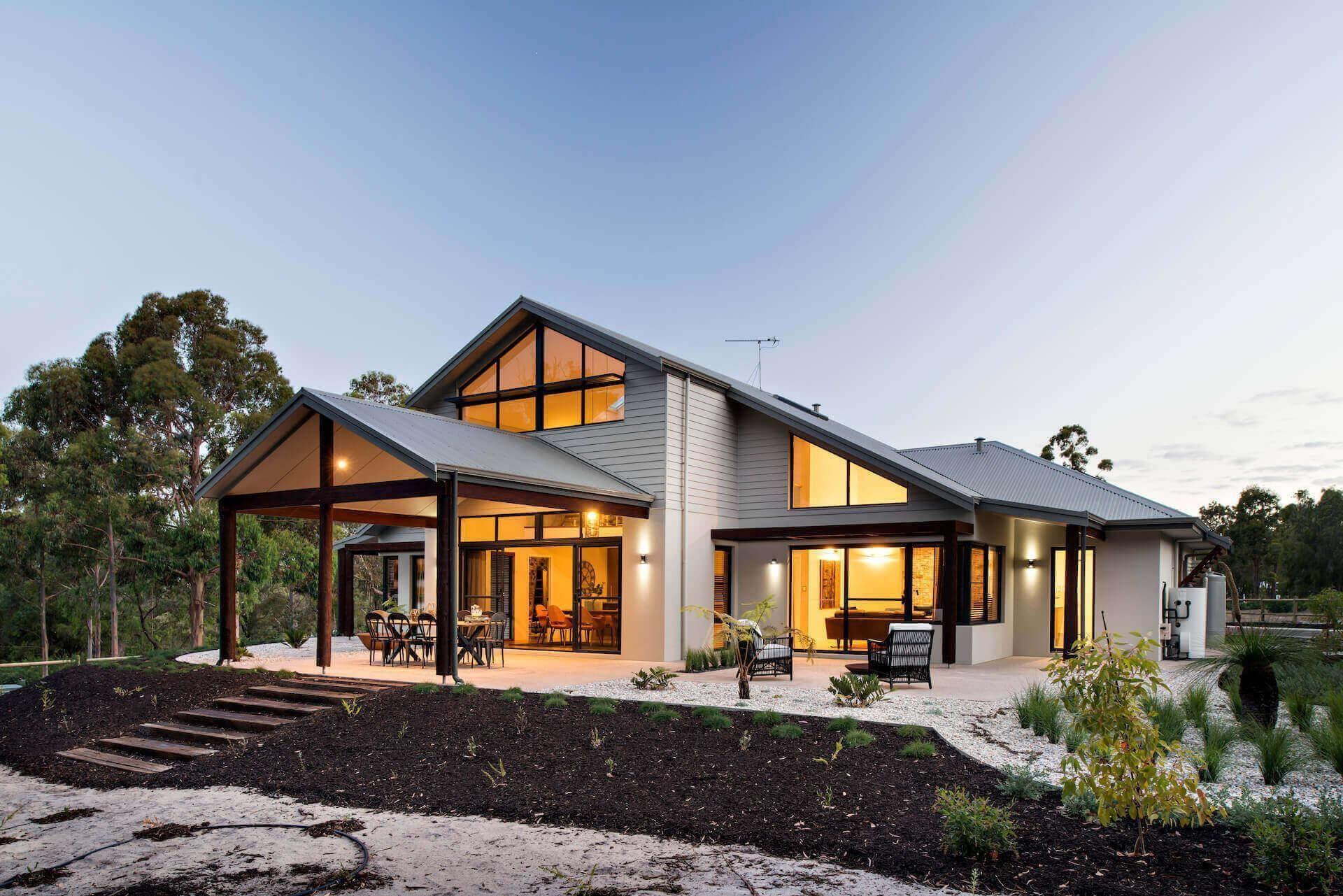 Two Story Loft House Designs 2 Storey Floor Plans Perth Wa The Quedjinup Loft House Design Country House Design House Porch Design