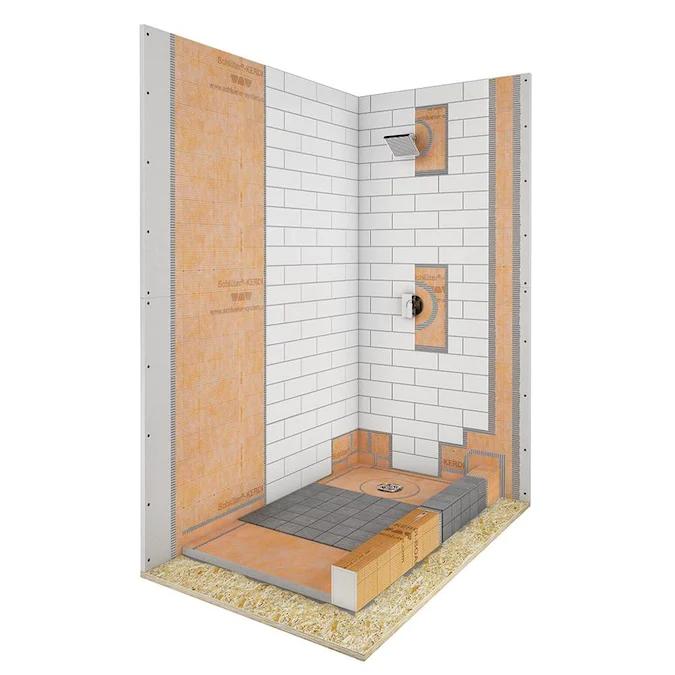 Schluter Systems Kerdi Shower Kit Stainless Steel Styrene Shower Base 60 In W X 38 In L With Reversible Drain Lowes Com Shower Kits Shower Base Diy Tile Shower