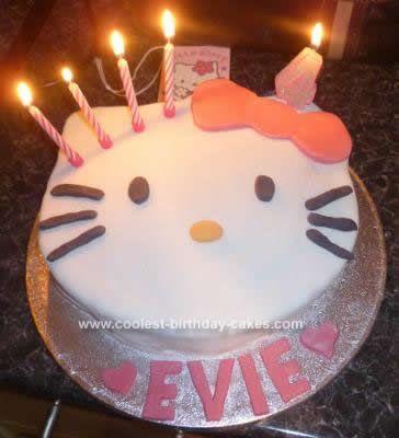 Coolest Hello Kitty Birthday Cake Idea Birthday cakes Homemade