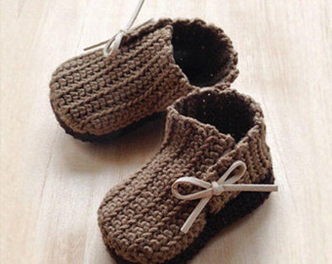 Crochet Pattern - Wrap Baby Booties Newborn Boots Preemie Shoes ...
