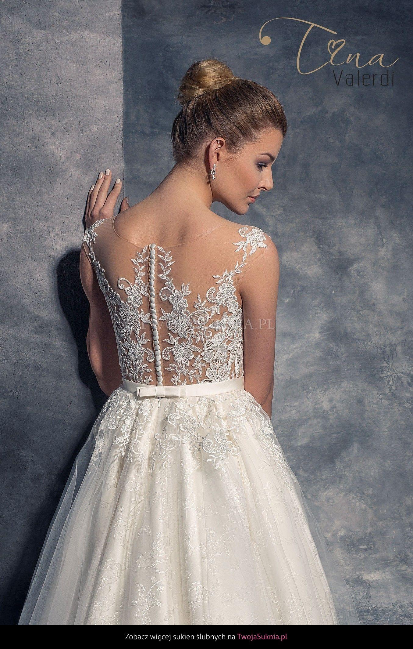 Tina Valerdi Isabel 2016 Wedding Dresses Backless Dress Formal Sleeveless Wedding Dress